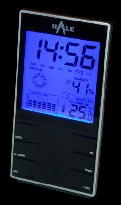 Metereologinė stotelė (higrometras-termometras su laikrodžiu ir kalendoriumi) HALE EM2319